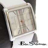 ベンシャーマン Ben Sherman ホワイト フェイス アナログ ウォッチ メンズ 【】 モッズ ファッション 本革 レザー 本革レザー ベルト 時計 腕時計 ステンレス Wh