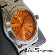 ベンシャーマン Ben Sherman 腕時計 オレンジ フェイス 【送料無料】 新作 メンズ モッズ ファッション ガンメタル ステンレス スティール ベルト Stainless Steel 腕 時計 アナログ ウォッチ UK モッズ r833 ギフト