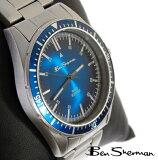 ベンシャーマン Ben Sherman ブルー フェイス 腕時計 メンズ 【】 新作 モッズ ファッション サンバースト ステンレス スティール ベルト 腕 時計 アナログ ウォッ