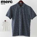 ショッピングモッズ SALE セール ! メルクロンドン メンズ ポロシャツ ポロ Merc London ドットプリント 2019 新作 W1 プレミアム 2色 オフホワイト スティールブルー モッズファッション プレゼント ギフト