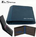 ベンシャーマン Ben Sherman サイフ 二つ折り 財布 本革レザー 3色 ギンガムツートン ウォレット メンズ 父の日 ギフト
