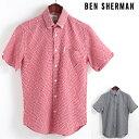 ショッピングモッズ SALE セール ! ベンシャーマン Ben Sherman 半袖シャツ ワープストライプ 2色 レギュラーフィット MOD Regular Fit ボタンダウン メンズ プレゼント ギフト モッズファッション