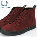 フレッドペリー Fred Perry スニーカー シューズ ブーツ ハイカット エレスメア ミッドスウェード レザー マダーブラウン 靴 レディース プレゼント ギフト