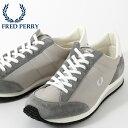 ショッピングランニング フレッドペリー Fred Perry スニーカー シューズ ヴィンソン ナイロン ツイル グレー 軽量 日本製 メンズ 靴 ギフト 正規販売店
