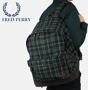 フレッドペリー Fred Perry バックパック リュック ハウスタータンチェック バッグ 【送料無料】 45x37x17cm メンズ レディース フレッドペリー プレゼント ギフト