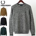 フレッドペリー Fred Perry セーター クルーネック 4色 シェットランドウール ネイビー グリーン マスタード グレー 英国製 Made in England 正規販売店 メンズ プレゼント ギフト