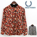 フレッドペリー Fred Perry レディース プリントシャツ ドット レトロ 正規販売店 ギフト