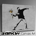 "2 60.5*40.5 wall hangings art art panel art frame in terrier [free shipping] BANKSY CANVAS ART bank sea ""Flower Thrower Chuck"" picture picture art canvas canvas art Wood London graphic art graffiti bft2c"