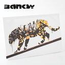 BANKSY CANVAS ART キャンバス アートファブリックパネル Soldiers Painting Peace 60cm × 40cm バンクシー ピース タイガー トラ ギフト