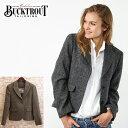ハリスツイード バックトラウト Harris Tweed ジャケット テーラード 英国縫製 ヘリンボーン チェック 2色 Tammy ピュアニューウール100% Bucktrout レディース ギフト