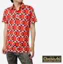 ショッピングモッズ Chenaski チェナスキー メンズ ポロシャツ ポロ モッズ ファッション Polo Shirt オレンジ Orange サークル Circle 幾何学 リミテッド Limited コットン ボタン chenaskiltd1106 *l ギフト トラッド
