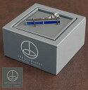 セール SALE denisonboston タイピン ネクタイピン タイバー ネクタイクリップ ツートン ブルー メンズ ギフト トラッド
