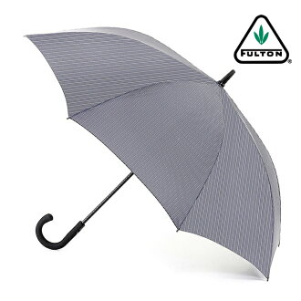 Fulton FULTON umbrella umbrella men's Knightsbridge gentleman standard length umbrella United Kingdom Royal warrant new Knightsbridge stripe gray jump umbrella Umbrella umbrella mod fashion United Kingdom London fultong451citystripegrey