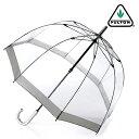 FULTON フルトン 傘 レディース バードケージ 長傘 透明 シルバー メタリック かさ 鳥かご ギフト
