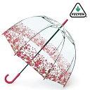 FULTON フルトン 傘 レディース バードケージ FULTON 長傘 女性用 透明 かさ 鳥かご おしゃれ 花柄 ビニール傘 フルトン 傘 レディース ギフト