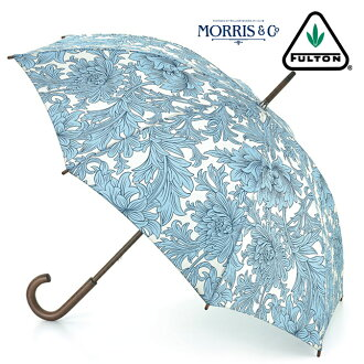 Fulton FULTON umbrella umbrella Chrysanthemum William Morris Chrysanthemum long umbrella United Kingdom Royal warrant new Roma blue flower floral women's William Morris Umbrella umbrella mod United Kingdom London fultonl715chrysanthemum
