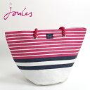 ショッピングビーチバッグ Joules ジュールス サマー ビーチバッグ ボーダー ピンクストライプ アウトドア ビーチ ピクニック ペーパーバッグ UKブランド レディース ギフト トラッド