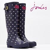 Joules 長靴 レインブーツ ウェリープリント ネイビー スポット 16SS 【送料無料】 レディース