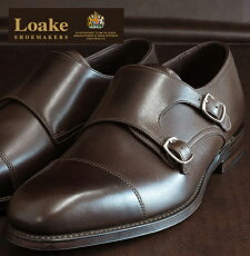 LoakeEnglandロークメンズレザーモンクシューズイングランドCANNON【送料無料】キャノンMonkShoesダブルバックル本革本革レザー靴革靴ダークブラウンDarkBrownモッズイギリス英国王室御用達201301loakecannondarkbrown*25*26