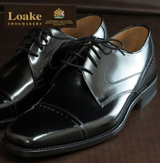 Loake England Rourke England men's shoes: 250B United Kingdom brand L1 Toe Cap Derby Goodyear Welted business black Black パーフォレイト leather leather leather leather shoes leather shoes United Kingdom London United Kingdom Royal purveyor loake250bblack * 25