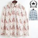 セール SALE RELCO シャツ レトロ 長袖 ウェーブ モッズ メンズ ファッション 2色 長袖 シャツ プレゼント ギフト