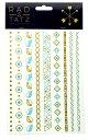 ショッピングシール 2枚以上で【ゆうパケット】送料無料/RAD TATZ METALLIC TATTOOS/メタリックタトゥー/タトゥーシール/TATOO シール/メタリックタトゥーシール/タトゥーシール ゴールド/タトゥーシール 大判/ボディシール/星/羽/蝶/ハート/MT-64