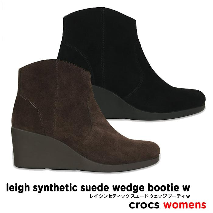 crocs【クロックス】Leigh Synthetic Suede Wedge Bootie / レイ シンセティック スエード ウェッジ ブーティ ※※