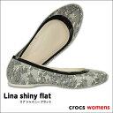 crocs【クロックス】Lina shiny flat/ リナ シャイニー フラット※※ 医療 介護 病院 看護 レディース サンダル オフィス パンプス バレーシューズ 【532P14Aug16】