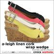 ショッピングCROCS crocs【クロックス】a-leigh linen cork wrap wedge/アレイ リネン コルク ラップ ウェッジ※※10P21Aug14