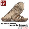 ショッピングCROCS crocs【クロックス】Women's Meleen Leopard Print Sandal / メリーン レオパード サンダル※※10P21Aug14