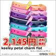 ショッピングCROCS crocs kids【クロックスキッズ】 Keeley Petal Charm Flat キーリーペタルチャームフラット