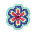 ショッピングジビッツ ・ジビッツ《チャーム》ラインストーン レインボー フラワー// JIBBITZ/Rhinestone Rainbow Flower// |