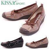 【KISSA SPORT キサスポーツ】【パンプス】 リボンエナメルウェッジシューズ ks8110【送料無料】〔KISSA SPORT/キサスポーツ パンプス/Pumps〕【KISSA SPORT キサスポーツ】