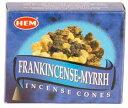 Frankincense & Myrrhコーンインセンス(HEM)10個入り 【RCP】
