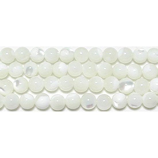 【クーポン対象】 マザーオブパール(白)丸玉4mmB