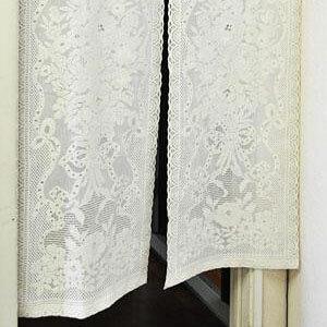 のれんリボンローズ 約85cm巾×90cm丈「他の商品と同