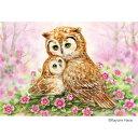 ジグソーパズル 300ピース 原井 加代美 やすらぎ 〜Owls Cuddle〜 33-136「他の商品と同梱不可/北海道、沖縄、離島別途送料」