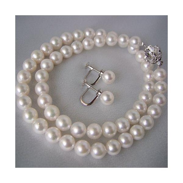 ◇和珠本真珠 7.5~8.0mm パールネックレス&パールイヤリング※他の商品と同梱 ※他の商品と同梱※