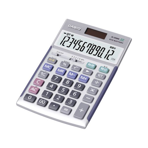 ◇カシオ(CASIO) 電卓 12桁 JS-20WK 1台※他の商品と同梱不可