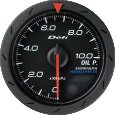 <欠品中 5/中>Defi デフィ アドバンス 油圧計(クロ) ADVANCE CR52MM DF08102