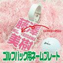 【メール便送料無料】ゴルフバック用 ネームプレート ラインストーン 【ネームプレ
