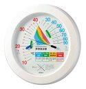 「熱中症注意」屋内用熱中症注意めやす付温度・湿度計 壁掛けタイプ TM-2482W