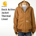 [カーハート ジャケット] アクティブジャケット(裏サーマル)J131[ブラウンダック(茶)] Carhartt Active Jacket J131 パーカー ジャケット