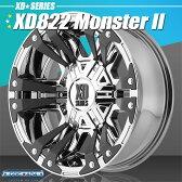 KMC XD822 Monsterll (モンスター2) PVDクローム&ブラック 20インチ 9J 1本
