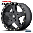 American Racing ATX AX194 Ravine(ラビーン)ブラックテフロンコーティング 17インチ 8.5J 1本