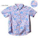 """メール便送料無料!アロハシャツ かりゆしウェア """"Hawaiian Hibiscus"""" レディース(女性用) 半袖レギュラーシャツ 全3色 大きいサイズあり 【..."""