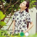 """メール便送料無料!アロハシャツ レディース """"The Palm"""" 抗菌防臭加工 PANAから贈る夏にピッタリなリゾートアロハシャツ 女性用【楽ギフ_包装】 リゾートウエディングにアロハシャツ[12SS]"""