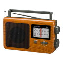 【代引き・同梱不可】 OHM AudioComm AM/FMポータブルラジオ 木目調 RAD-T780Z-WK