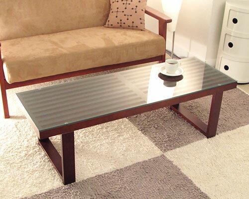 エディーガラステーブル(センターテーブル ローテーブル) 木を感じるテーブルでナチュラルモダンな部屋作り。