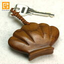 木製キーホルダー 貝 【 おしゃれ バリ 雑貨 アジアン 雑貨 リゾート ホテル バリ風 バリ島 南
